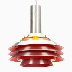 Orange Metal Pendant Lamp by Carl Thore for Granhaga