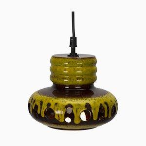 Yellow Ceramic Herda Pendant Lamps, Set of 2
