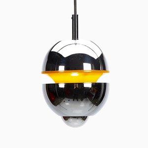 Orange & Chrome Pendant Lamp by Klaus Hempel for Massive