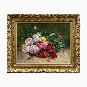 Dominique Rozier, Natura morta con rose, Pittura