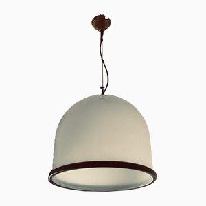 Große italienische Vintage Dome Lampe aus handgefertigter Murano Glasfront Leucos, 1970er