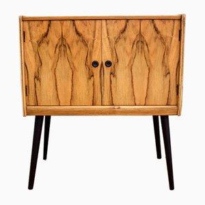 Mueble para discos Mid-Century de nogal, años 60