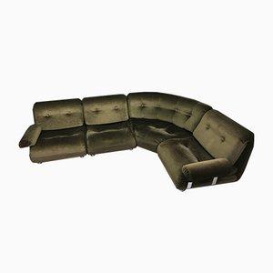 Vintage Brown Modular 4-Seater Corner Sofa by KM Wilkins for G-Plan, Set of 4