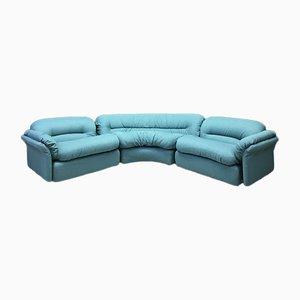 Modular Italian Blue Sofa from Rossi di Albizzate, Set of 3