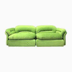 Vintage Italian Green Modular Sofa from Rossi di Albizzate, Set of 2