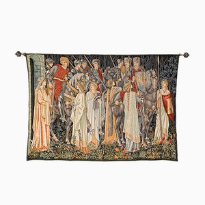 Large Vintage French Holy Grail Tapestry in Jacquard