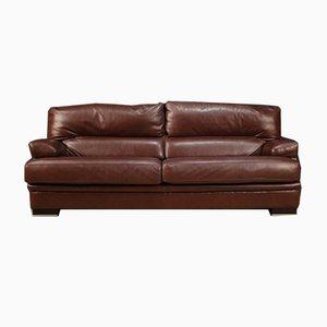 Large Leather Sofa, 1980s
