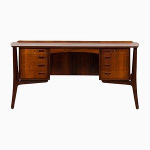 Rosewood Desk by Svend Aage Madsen for H.P. Hansen, Denmark, 1960s