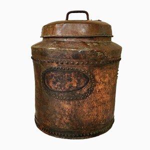 Distillatore vittoriano in rame con coperchio