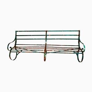 Large Regency Iron Strapwork Bench