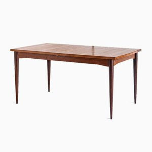 Scandinavian Style Teak Dining Table with Central Extension, France, 1960s