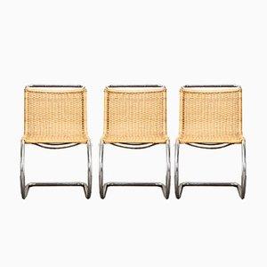 MR10 Esszimmerstühle von Mies van der Rohe für Thonet, 1970er, 3er Set