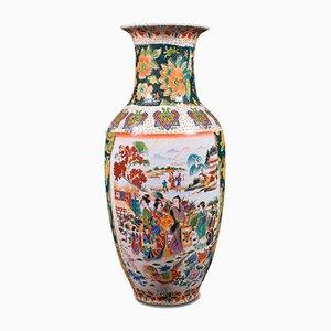 Chinesische Vintage Art Deco Blumenvase, 1940er