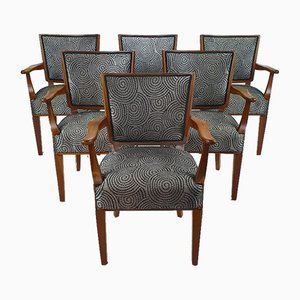 Mid-Century Dutch Armchairs with Original Design Sketch by W. Kuyper, 1953, Set of 6