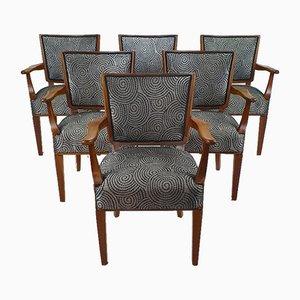 Niederländische Mid-Century Armlehnstühle mit Original Design Sketch von W. Kuyper, 1953, 6er Set