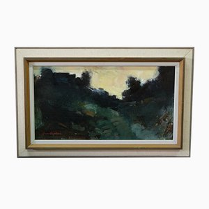 Arne Aspelin, pintura sueca moderna, óleo sobre lienzo, años 60