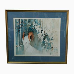 Modern Hand Signed Lithograph by Gilbert Michaud, 1980s