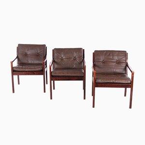 Lounge Chair from J M Birking & Co. Copenhagen, 1960s, Set of 3