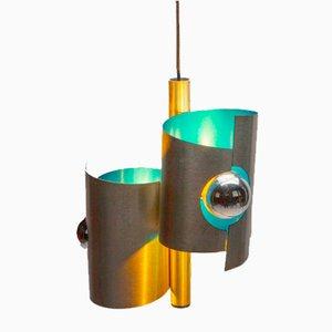 Space Age Spirelli Pendant Lamp in Turquoise