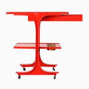Bar Trolley by Gianfranco Frattini for Bernini, 1970s