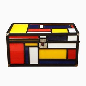 Truhe im Stil von Piet Mondrian
