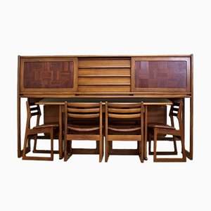 Teak Sideboard with Dining Set from Elliots of Newbury, 1960s