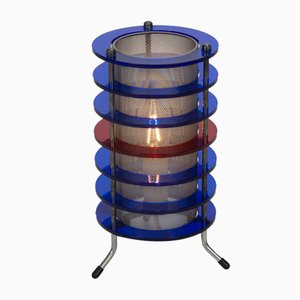 Space Age Blue and Red Table Lamp