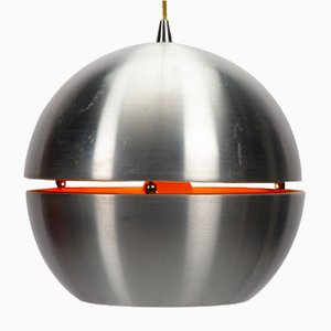 Space Age Metal Slit Globe Pendant Lamp