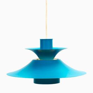 Vintage Danish Turquoise Pendant Lamp from Lyfa