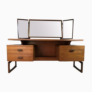 Mid-Century Quadrille Dressing Table in Teak with Mirror from G-Plan