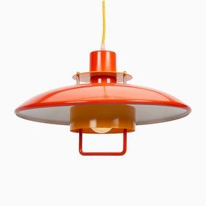 Vintage Danish Pendant Lamp in Red