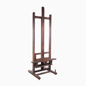 Antique French Wooden Painter's Easel, 18th Century
