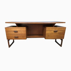 Mid-Century Teak Quadrille Desk with Floating Top from G-Plan