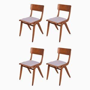Boomerang Esszimmerstühle von Gościcińskie Fabryki Mebli, 1960er, 4er Set