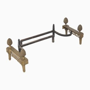 Antique Bronze Fireplace Andirons from Fres Bouhon, 19th Century, Set of 2