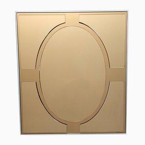 Espejo de pared vintage rectangular de bronce de Giannobi, Italy, años 70-80