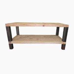 Tavolino da caffè in ferro e legno
