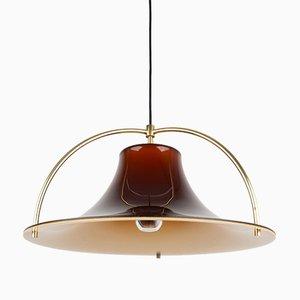 Danish Single Pendant Lamp by Johannes Hammerborg for Fog & Mørup, 1970s