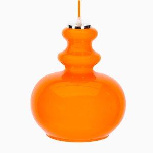 Orangefarbene Hängelampe von Peill & Putzler