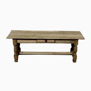 Large French Bleached Oak Coffee Table