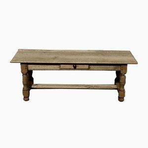 Tavolino da caffè grande in legno di quercia sbiancato, Francia