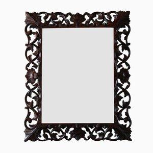 Floraler Spiegel mit Spiegelglas