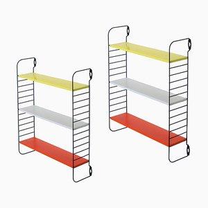 Kleines farbiges Pocket Series Wandregal von AD Dekker für Tomado, 1950er, 2er Set