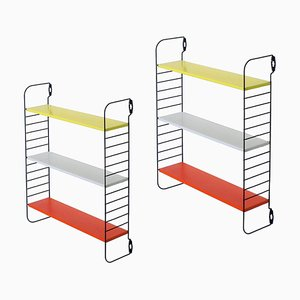 Small Colored Pocket Series Wall Unit by A. D. Dekker for Tomado, 1950s, Set of 2