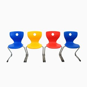 Lupo Chair by V. Panton for VS, 1990s, Set of 4