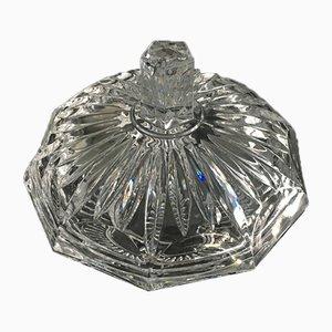 Vintage Pralinenschachtel aus Kristallglas, 1950er, 2er Set