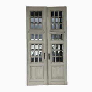 Französische Schloss Türen, 19. Jh., 2er Set