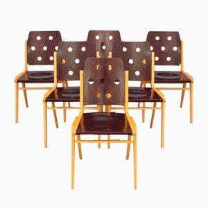Sedie impilabili di Franz Schuster, set di 6
