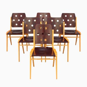 Stacking Chairs by Franz Schuster, Set of 6