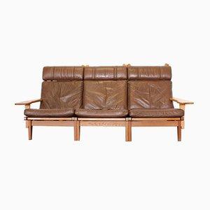 Ge-375 Leather Sofa by Hans J. Wegner for Getama